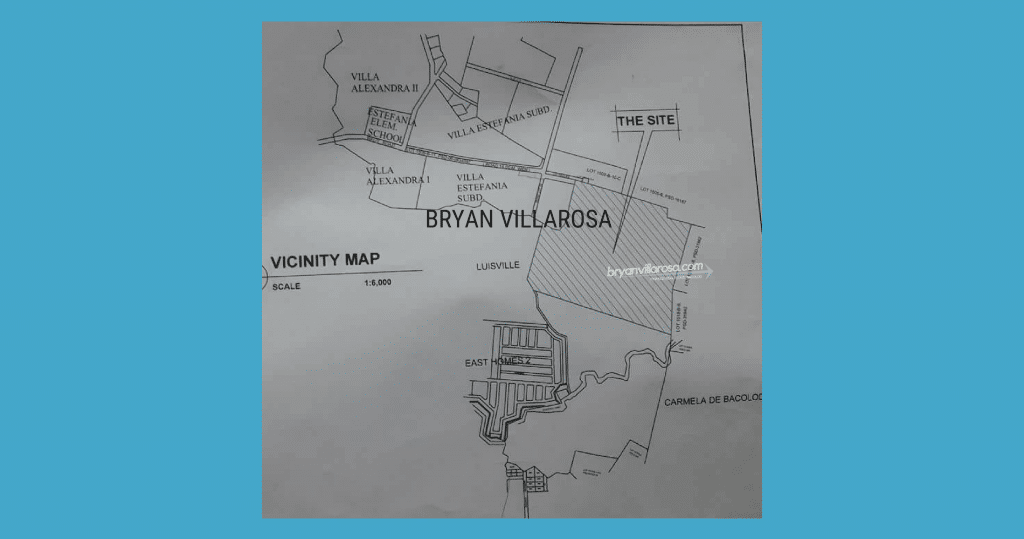 East Villas Map Fortune Towne and Neigbouring Subdivisions