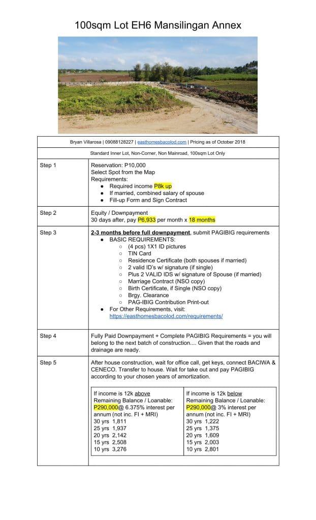 100 sqm Lot 5 Steps Pricing Mansilingan (Oct 2018)-4