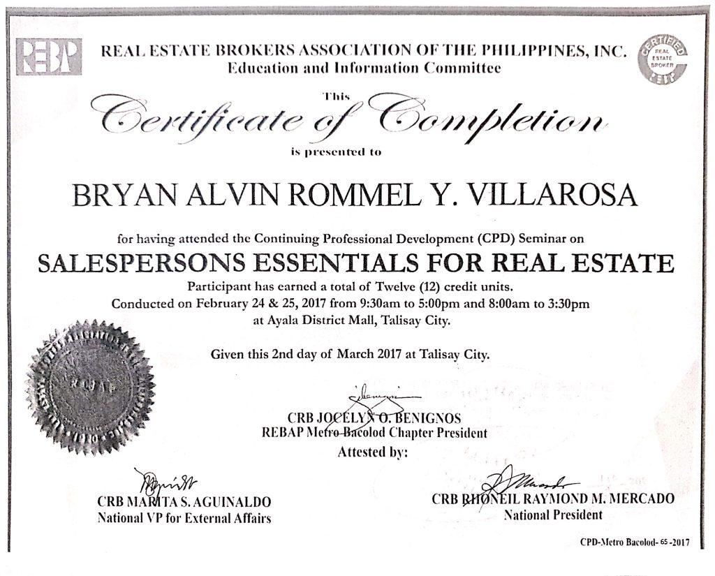 REBAP Certification