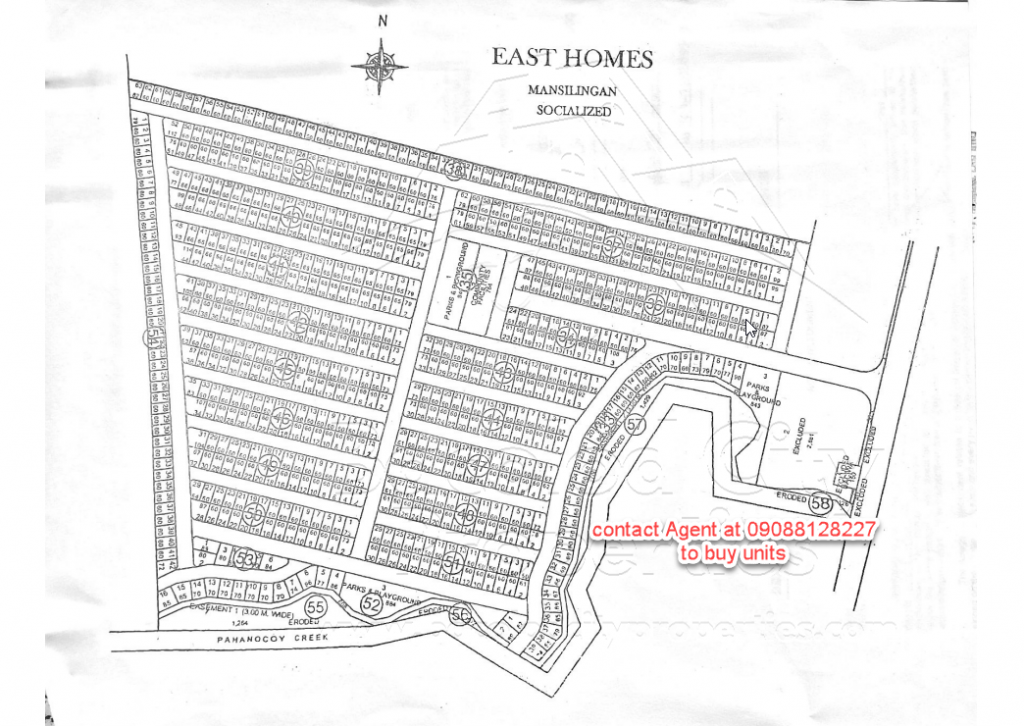 East Homes 5 Map clean - with number